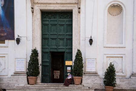 Churchdoor in Rome