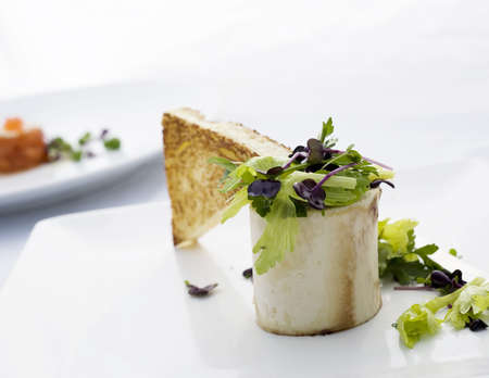 Bone Marrow Salad on plate