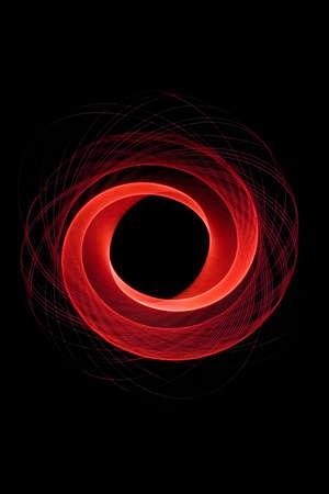 Pendulum swings forming a light trail Imagens