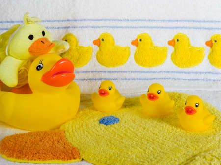 Rubber Duck Bathroom Set Stock Photo, Picture And Royalty Free Image. Image  27513525.
