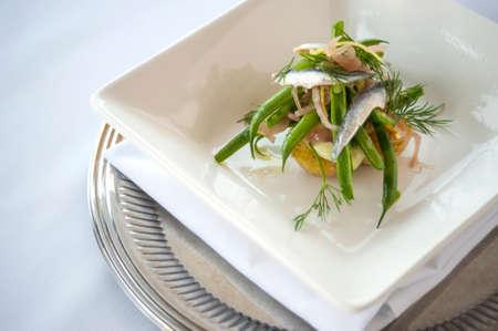 Sardine and Green Bean Salad Stock Photo