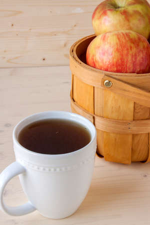 cider: Hot Apple Cider and Apples Stock Photo