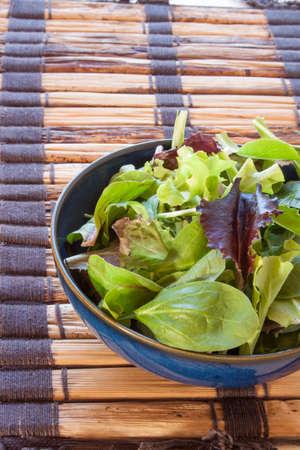 salad greens: Salad Greens and Spinach