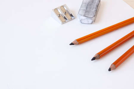 pencil and paper: Charcoal Pencils Stock Photo