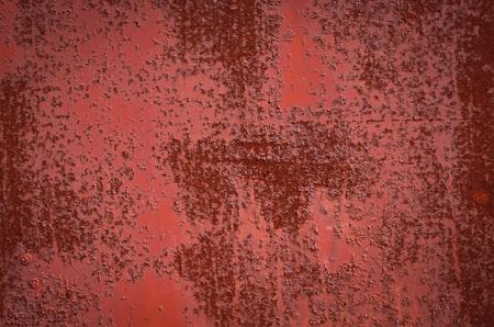 Rusty Burgundy Red sheet metal. Texture. Archivio Fotografico
