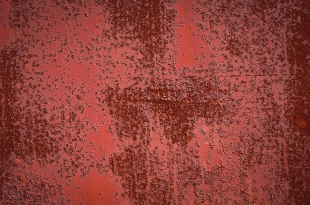 Rusty Burgundy Red sheet metal. Texture. Banque d'images