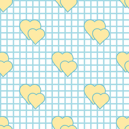 checkered pattern: checkered pattern and hearts