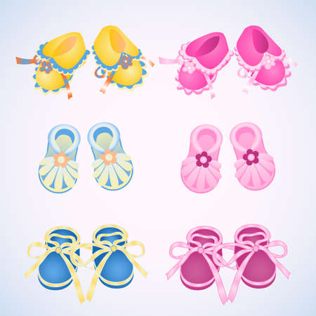 bootees: icon bootees colorful Illustration