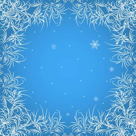 frosty: Frosty pattern. Christmas background. Illustration