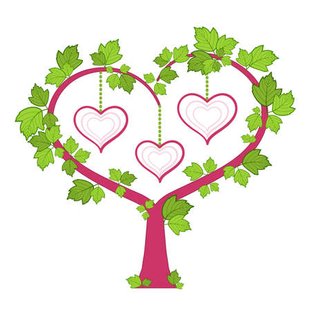 Cornice. Albero genealogico. Un cuore.