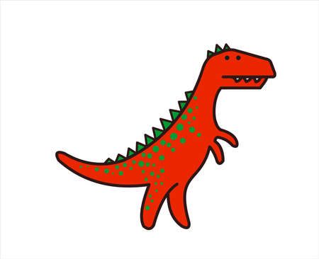 Cute Dinosaur, Dino. Tyrannosaurus Rex. T-rex. For print. Modern flat Vector image Isolated on white background.