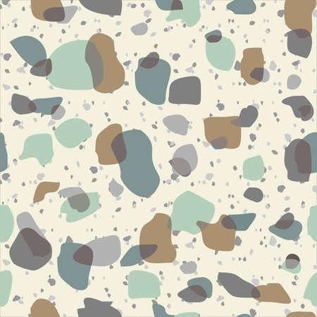 Terrazzo Seamless Pattern. Marble Rock Floor Stone Texture.