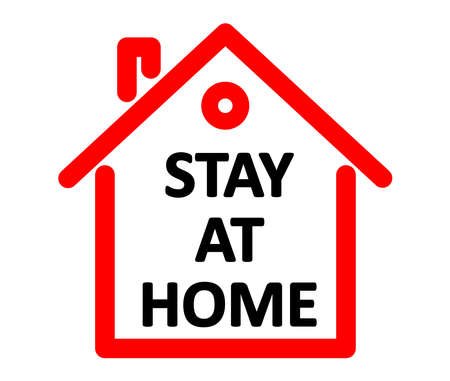 Quarantine concept. Stay at home. Coronavirus, 2019-nCov, Covid-19.