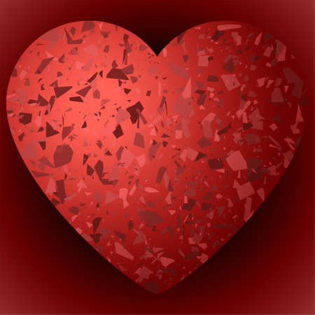 Broken Valentine Heart the Icon of vector