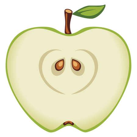 manzana caricatura: Ilustración vectorial de la manzana Vectores