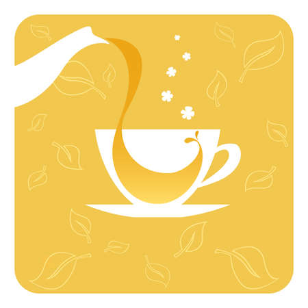 Vector illustration cup of tea Иллюстрация