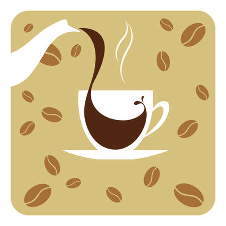 Vector illustration cup of coffee Vector