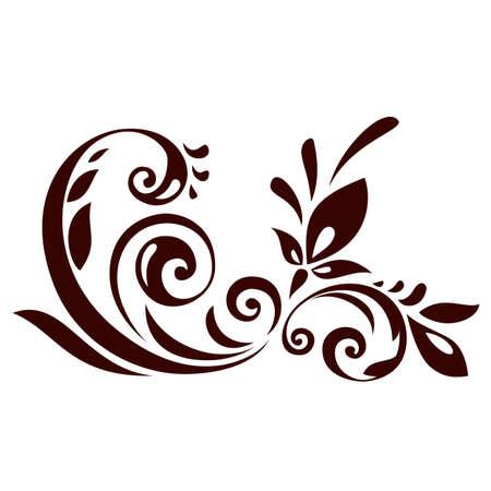 Vector illustration of floral ornament for design