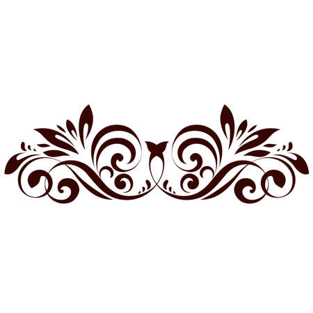 Vector illustration of floral ornament for design