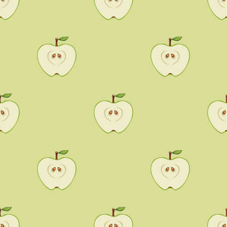Seamless pattern with apples. Vector illustration