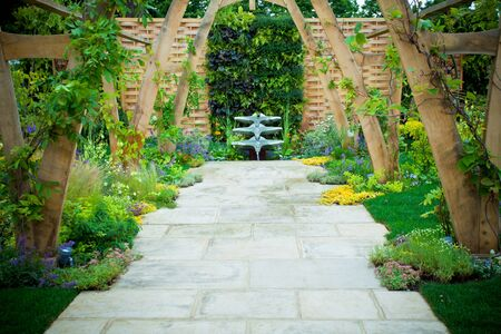 Ruhigen Garten Standard-Bild - 16260932