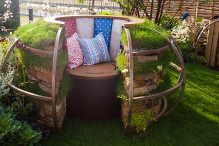 Relaxation place in a garden