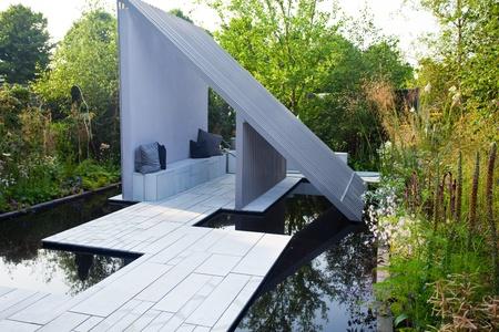 garden landscape: Tranquil garden