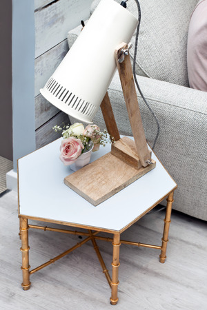 Home decoration with a lamp