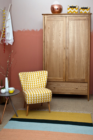 Home decoration with an armchair