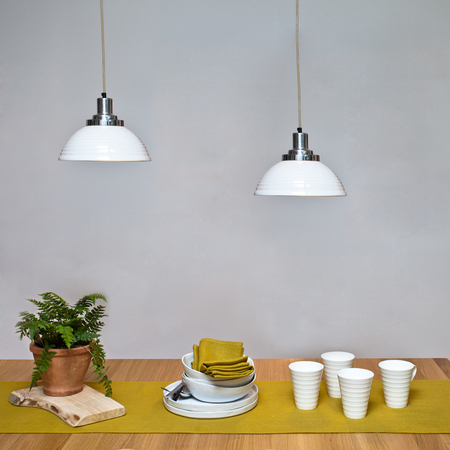 silver fern: Dining table interior Stock Photo