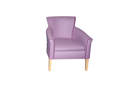upholster: Isolater an armchair on white background