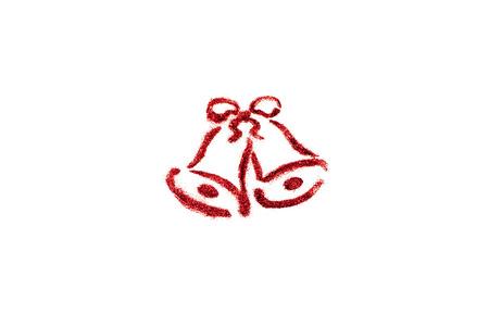 campanas de navidad: Alarmas de la Navidad en el fondo blanco