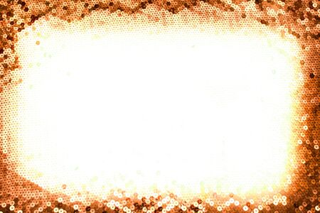 bronze background: Christmas sparkling bronze background with white space on the middle Stock Photo