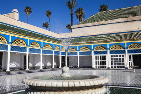 Arabic historic Bahia palace, Marrakesh, Morocco