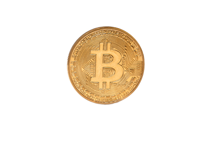 Bitcoin coin isolated on white background