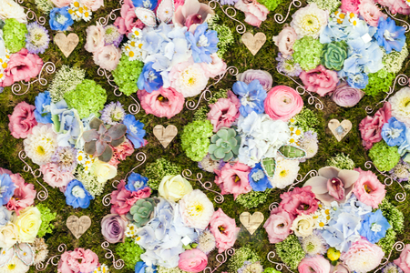 Background of arranged bouquet of flowers