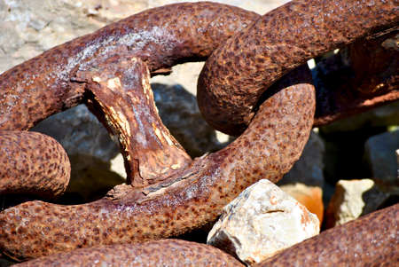 rusty chain in klimno port