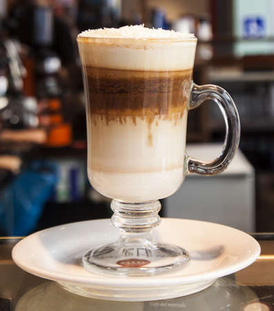 Image of decorated  capuccino   photo