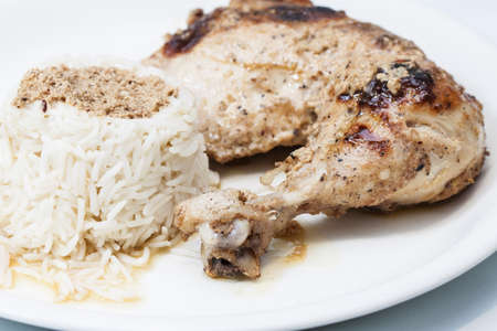 Tandori Chicken with basmati rice photo