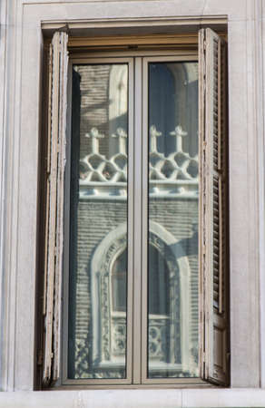 Ancient window in front of St Gerónimo Church photo