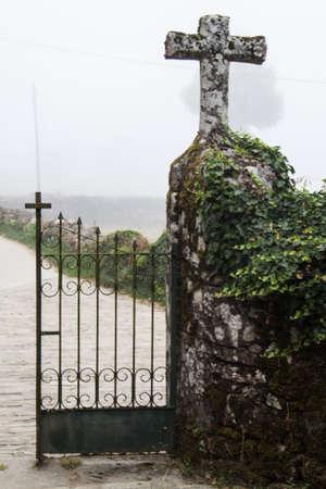 camino de santiago: spanish church at Camino de Santiago