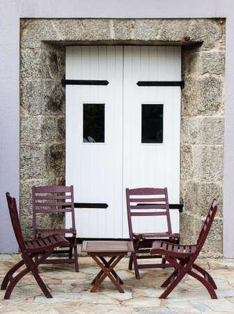 camino de santiago: Old Pazo door at Camino de Santiago