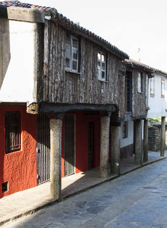 camino: Some typical spanish houses at Camino de Santiago Stock Photo