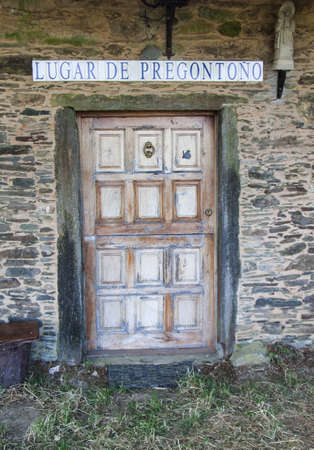 camino de santiago: Vintage door at Camino de Santiago