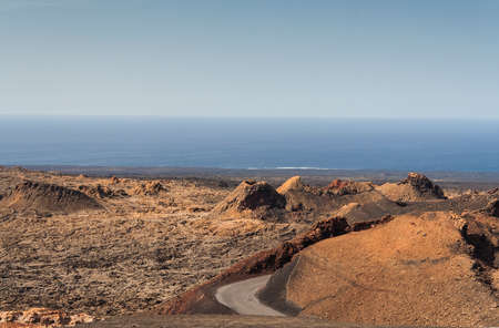 volcanic landscape: Volcanic landscape. Timanfaya National Park. Lanzarote, Canary Islands. Spain. Stock Photo