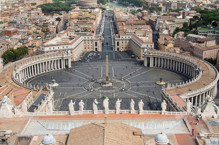 Rome seen from St. Peters Basilica Rome, Vatican, Italy photo