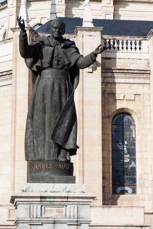 theological: Statue of Pope John Paul II