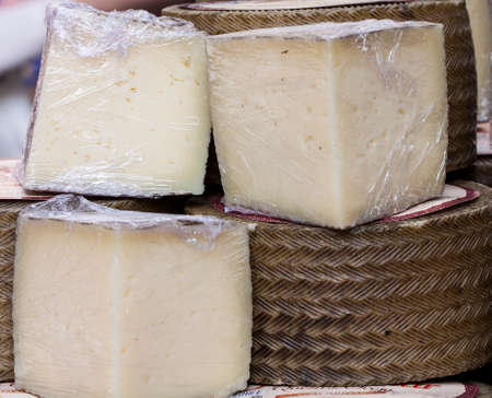 epicurean: Image of genuine cured manchego cheese