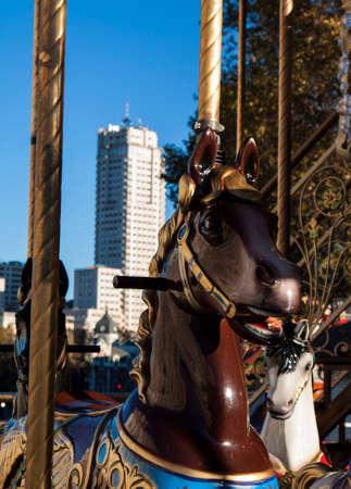 Vintage carousel or merry-go-round photo
