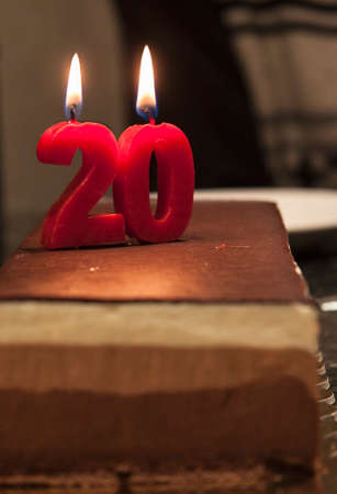 20 anniversary birthday cake  photo